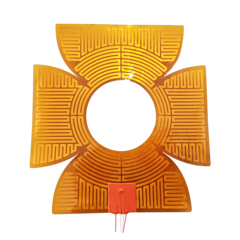 12 Volt Customized Polyimide Kapton Thin Film Electrical Heating Flexible Element