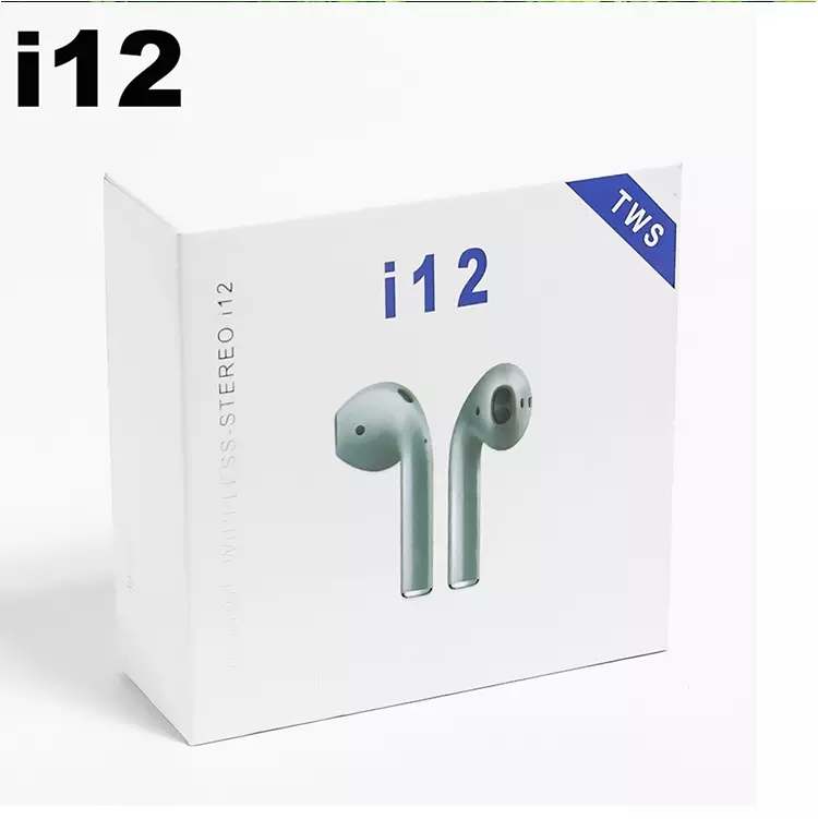 i12 TWS V5.0 Touch with Popup Window True Headphones Wireless Stereo Earbuds <strong>Control</strong> Wireless Earphone i12 TWS