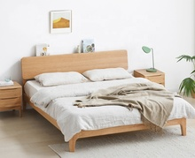 1.5 / 1.8m solid wood bed Nordic modern minimalist environmentally friendly bedroom <strong>furniture</strong> oak double bed