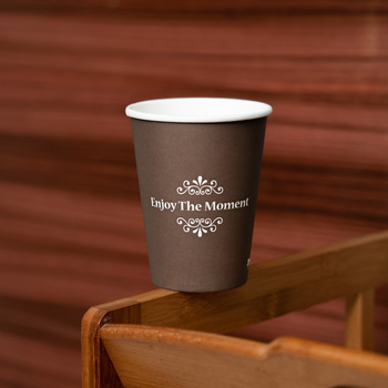 disposable 2.5 oz biodegradable personalized coffee paper cup and lid
