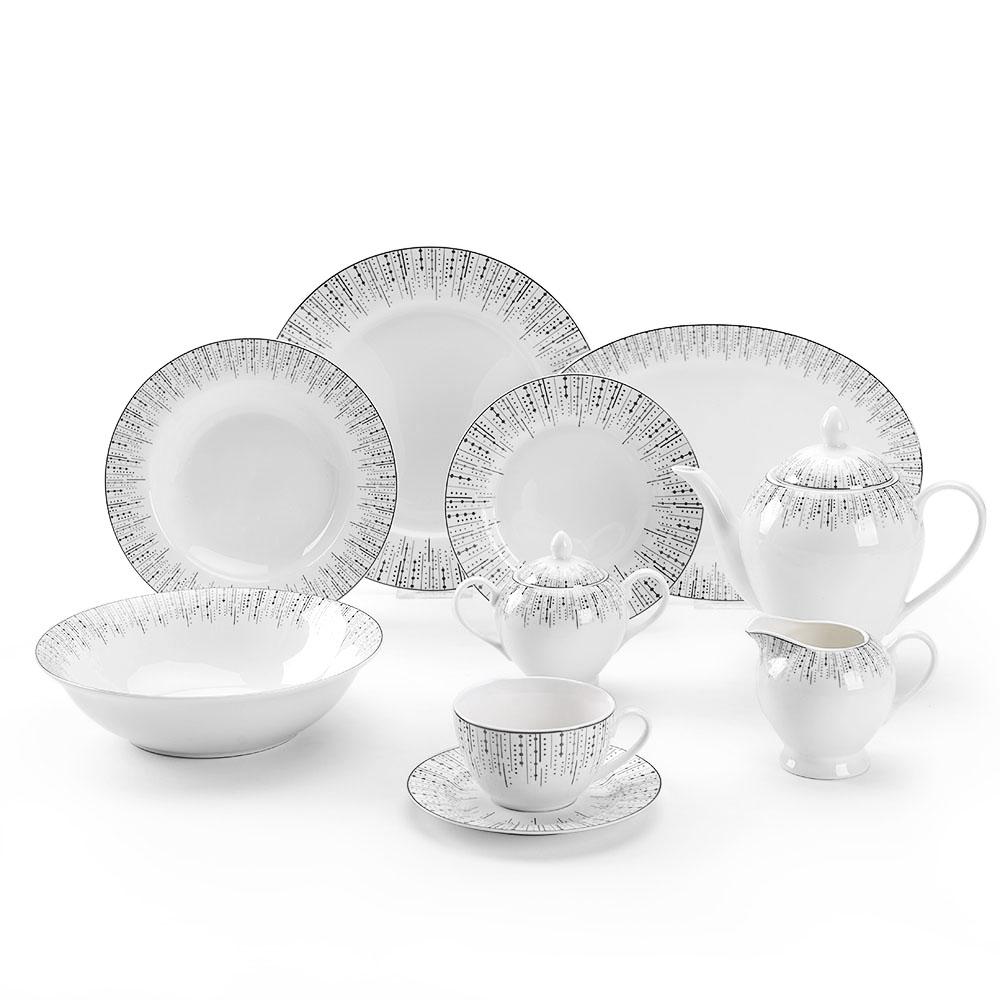 Best Selling Bone China Porcelain Dinnerware 7pcs Dinner Set With