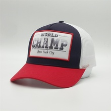Custom High Quality 5 panel Low MOQ Sublimation Heat Transfer Print Logo Red Mesh <strong>Caps</strong> Trucker Hat