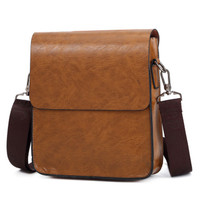 model luxury brown business designer vintage shoulder men leather bag small