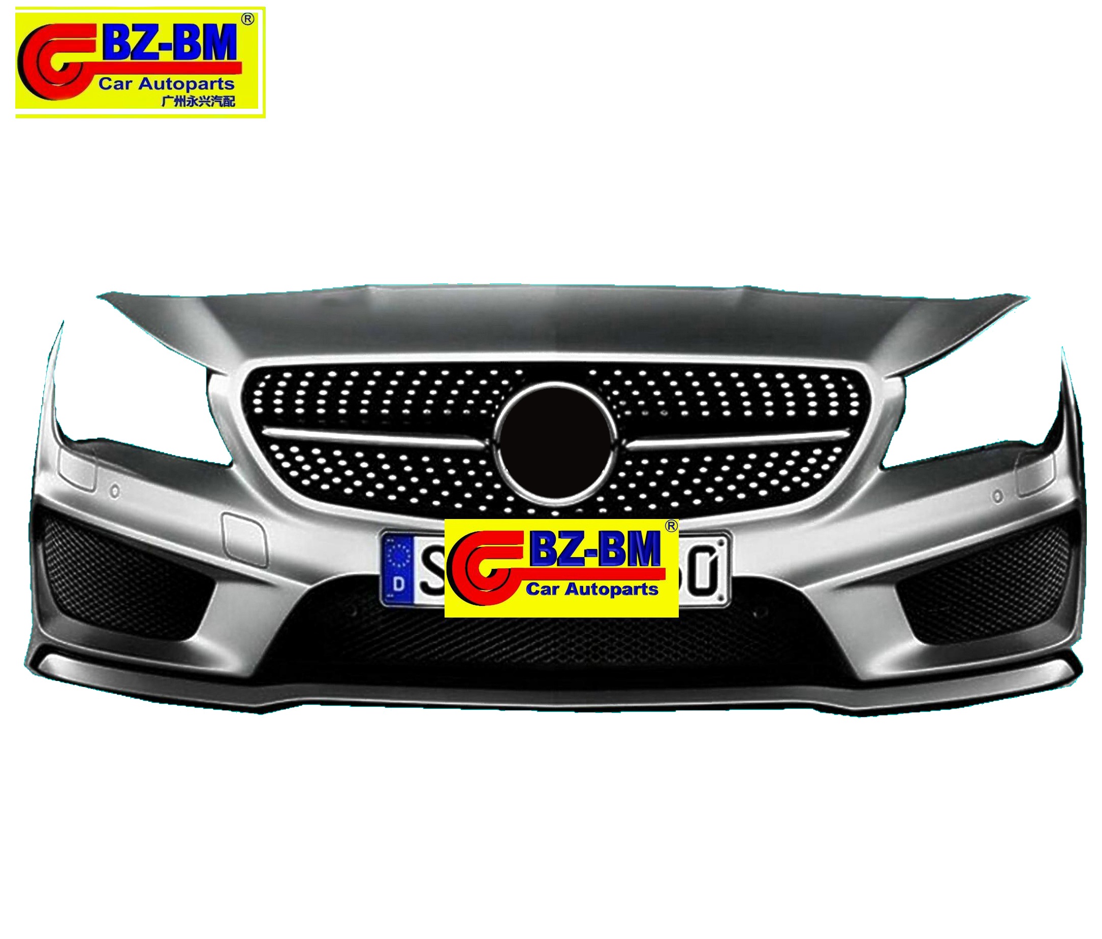 FRONT BUMPER REAL COVER GRILLE FOR BENZ BMW <strong>W117</strong>