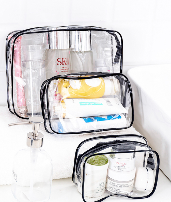 Mini Clear PVC Zipper Makeup Bag Transparent Women Cosmetic Bag