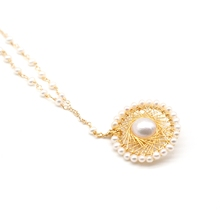 Natural Freshwater Pearl Pendant Necklace Lady Gift Wholesale Jewelry Long Pearl Set Necklace