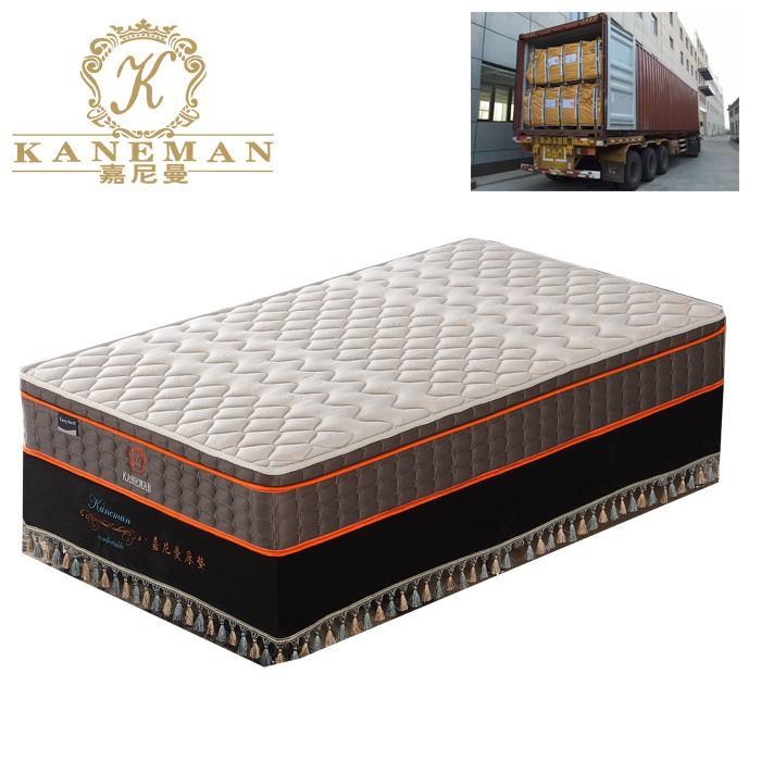 10 inch 25cm euro top continuous spring mattress with convoluted foam - Jozy Mattress | Jozy.net