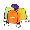 Good Quality Small Polyester Backpack Transparent Nylon Drawstring Bag With Ribbon