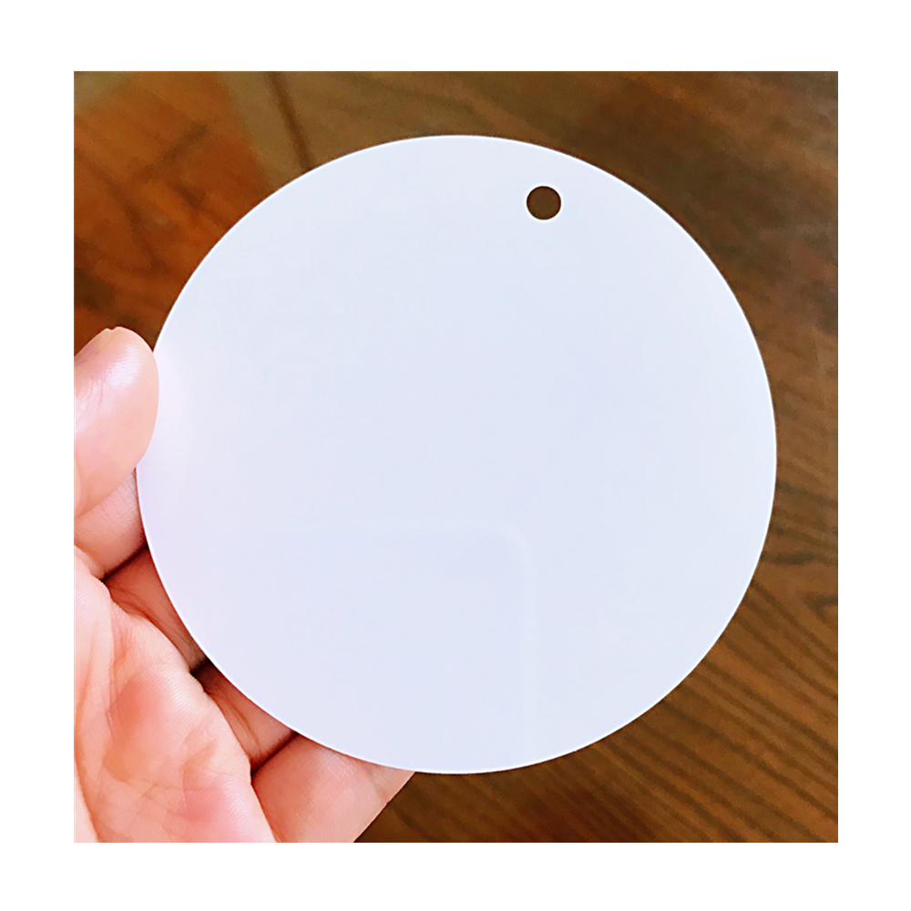 Chinese Suppliers Christmas Metal Ornaments Holiday Decorations Blanks <strong>Aluminum</strong> for Sublimation Printing Round Circles 3.5&quot; Inch