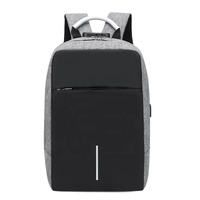 Backpack, Water Resistant School Backpack with USB Charging Port for Women Men Fits 15.6 Inch Laptop and Notebook