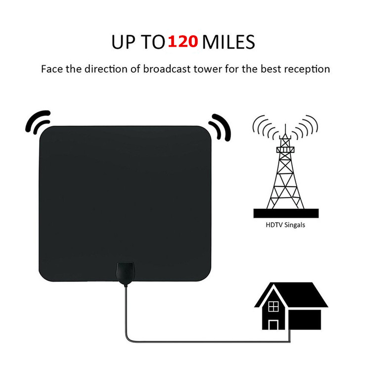 Newest Commercial Indoor / Outdoor Digital Uhf 470 - 862mhz Camping Car Tv Remote Controlled Rotating Antenna