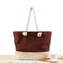 2019 Hot Sale Fashion Shoulder Straw Woven Bag For Shopping And Travelling With Big Capacity Store Many Things For Unisex