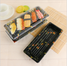 sushi tray with lid sushi packing to go takeaway disposable plastic sushi box