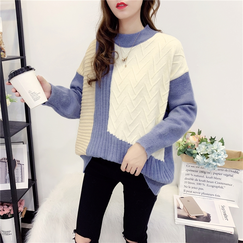 Women Pull Sweaters  Sweater Jumpers Candy Color Harajuku Chic Short Sweater Twisted Pull