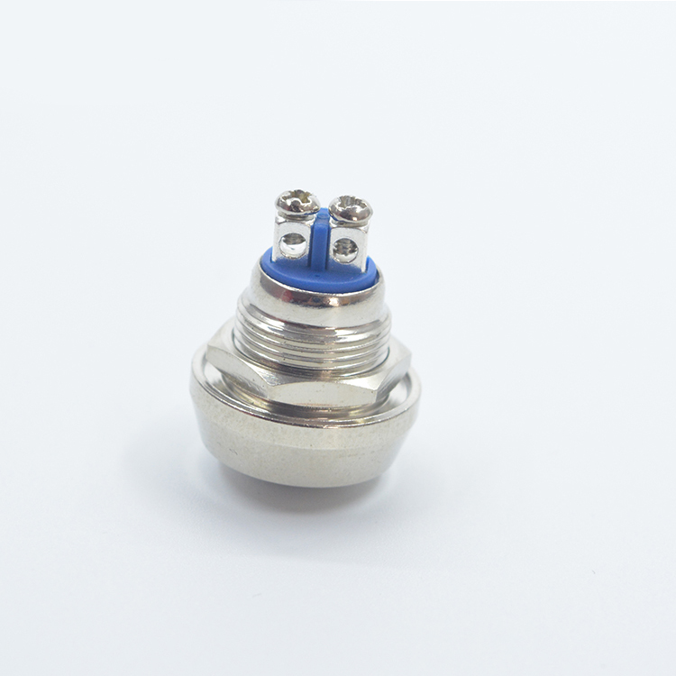 BIJIA 10amp metal push button 10/<strong>j</strong>/r/a) (dia. 12mm) (ce Round head Screw Connector 1NO
