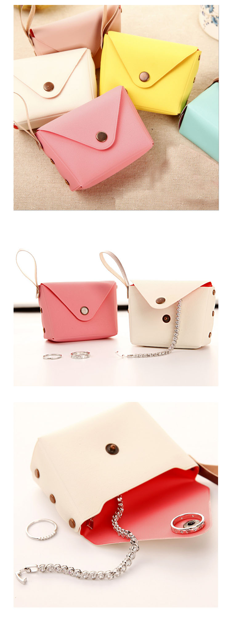 2019 Hot selling Korean style cute candy color Pocket Coin Purse key bag creative Macaron hand bag dime bags Card Cash Wallet