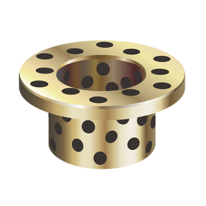 Copper wrapped Solid-Lubricant-Inlaid flange bushing ,DX DU bushing dry bearing