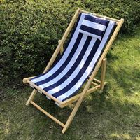 New Hot Sale Wooden Folding Promotional Outdoor Deck Folding Wooden Beach Chair sedia spiaggia legno sedie sdraio giardino