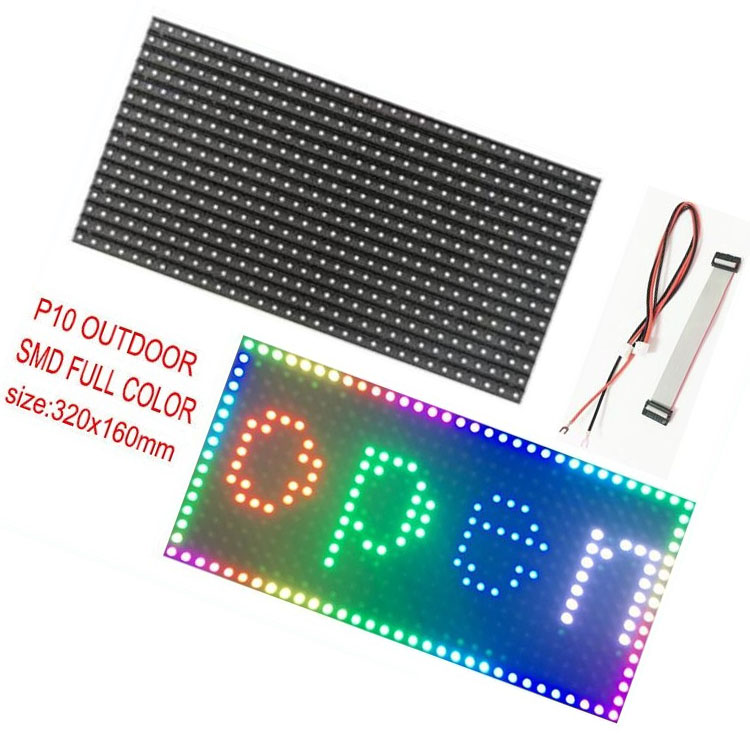 Full Color 1/4 Scanning Factory Price 3535 Display Board Smd Rgb <strong>Led</strong> <strong>Screen</strong> 320*160mm Outdoor <strong>P10</strong> <strong>Advertising</strong>