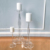 Clear acrylic candle holders set