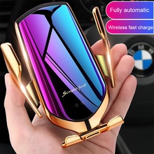 PSDA 10W car charger wireless charger R1 R2 Wireless Charger Infrared Smart Sensor Automatic Fast Charging Phone Holder