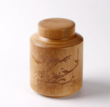 Bamboo tea packing box bamboo carving tea canister