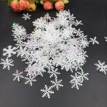 White Snowflakes fluffy Snowflake Confetti winter confetti wedding Table Party Christmas Decoration