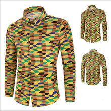 Latest Design Men Clothing Folk Style Long Sleeve Digital Printed Casual <strong>Men's</strong> <strong>Shirts</strong>
