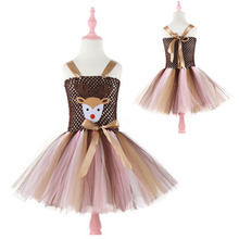 Christmas deer <strong>dresses</strong> children's <strong>dresses</strong> <strong>girls</strong> lace tutu mesh <strong>dress</strong> festival princess <strong>dress</strong>