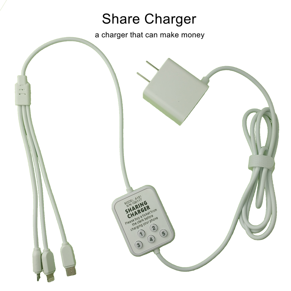 2019 New Product Small Business Idea Share Charger Mobile Phone 3 in 1 USB Charging Cable Payment Charger For Restaurant