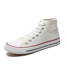 Mens Custom Canvas Shoes White Vulcanized Sneakers boots