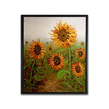 Modern Still Life Flower Oil Painting Handmade Sunflower Painting