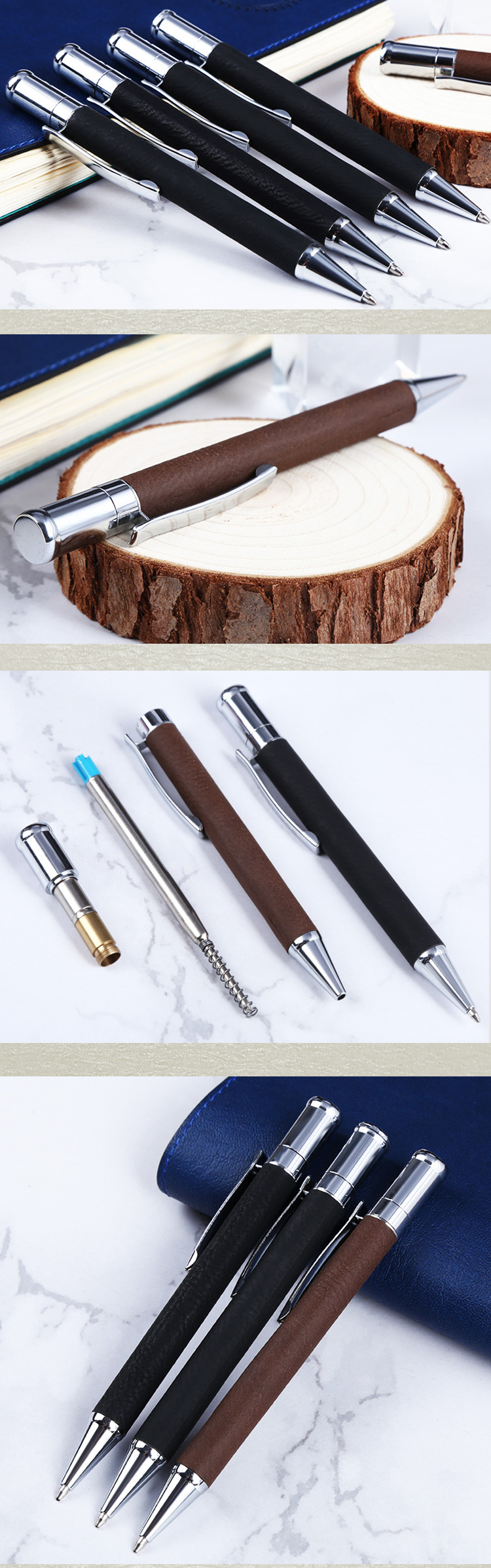 2020 business China Cheap Customized Luxury Metal Writing Ballpoint Pen