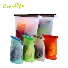 Amazon Hot FDA Large 1500ml 4000ml Reusable Silicone Vucuum Food Storage Bag