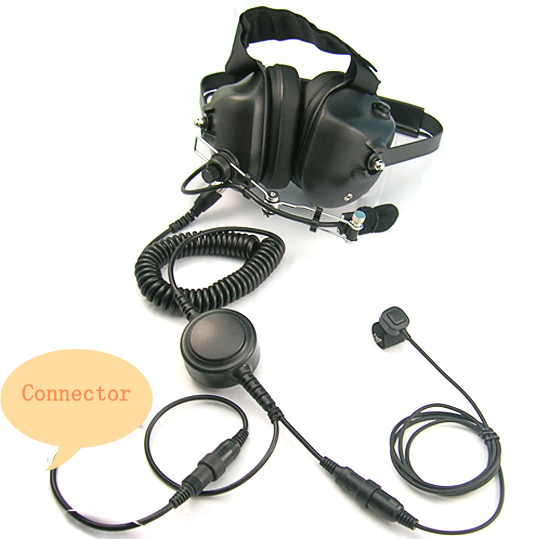 Walkie talkie noise cancelling helicopter headset for pilot