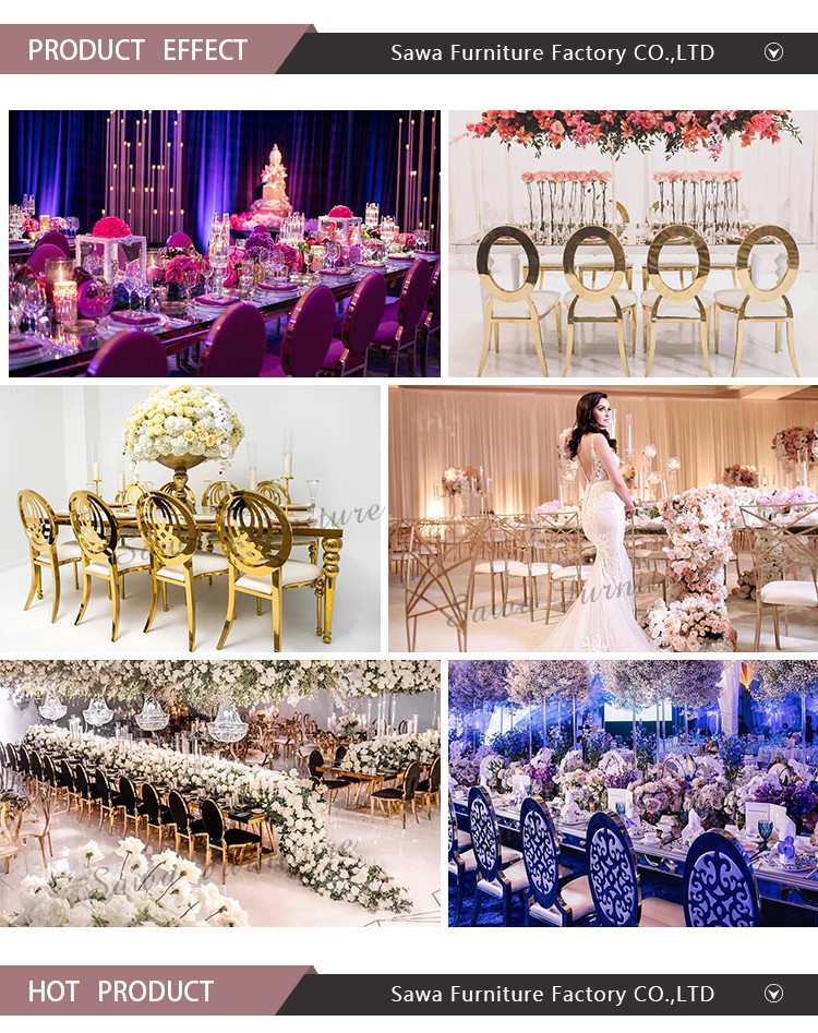 Hottest Selling Gold Frame Stainless Steel Event Wedding Dining Chair