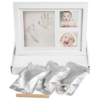 Custom Size Wooden Prints 12 Month Baby Photo Frame Footprint