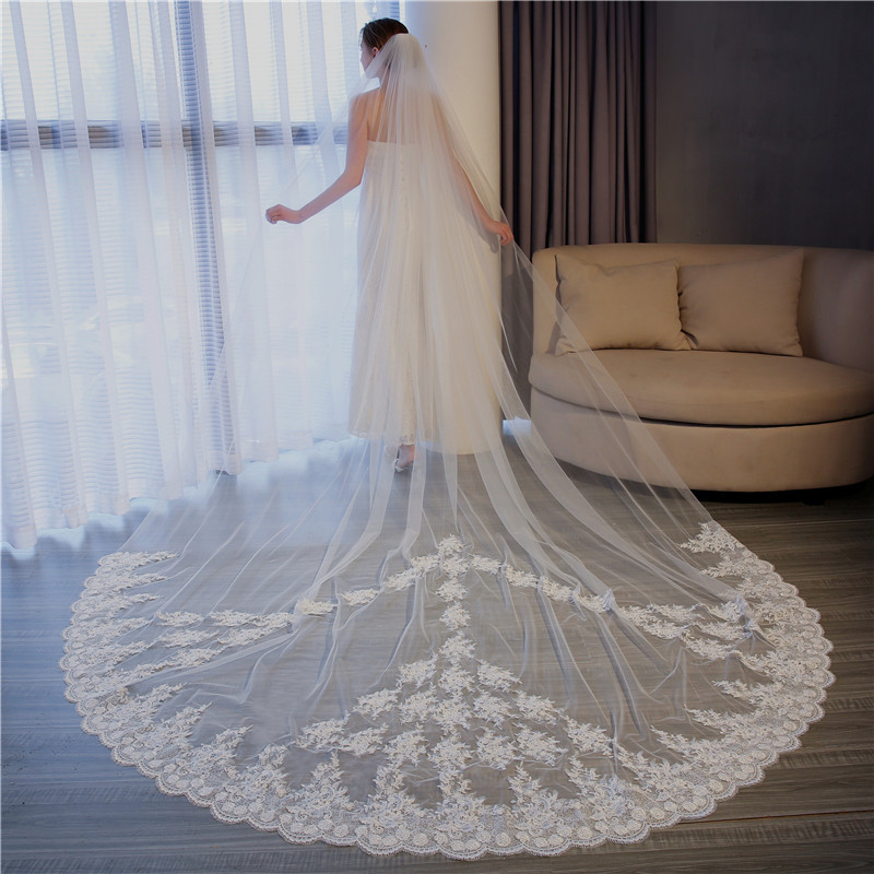 2020 Latest Style Hot Lady  Wedding Bridal Veil Lace Wedding Veil Wholesale