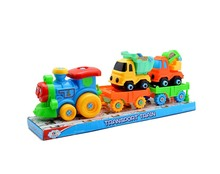 TT069575 DIY train truck toy with handle tools, take apart toy truck for kids building vehicles toys as promotional toy