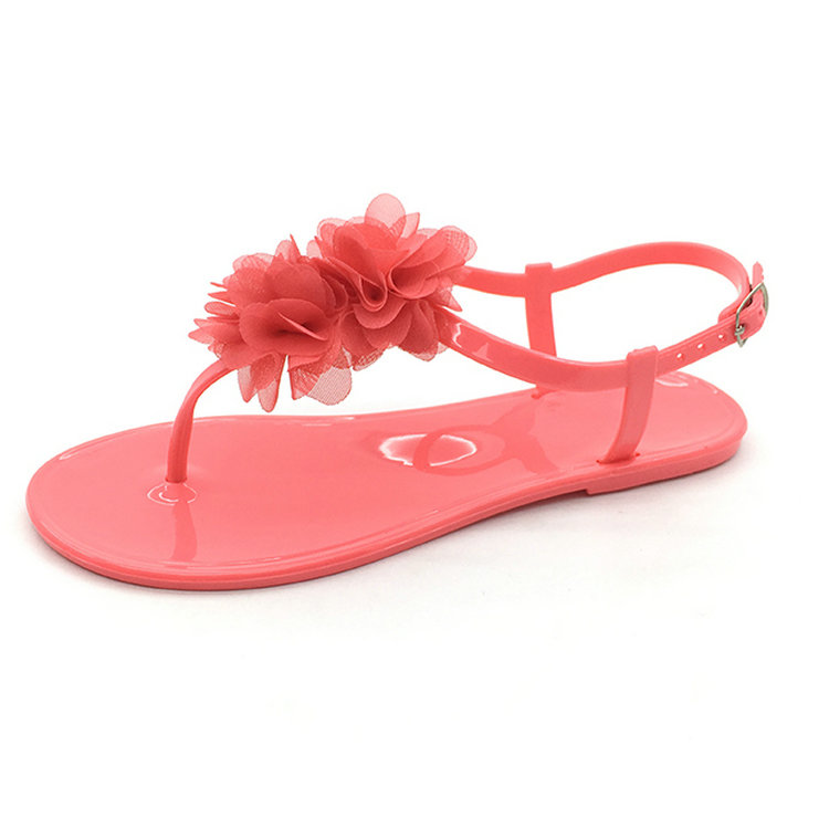 fashion lady elegant beautiful women flower beach sandals