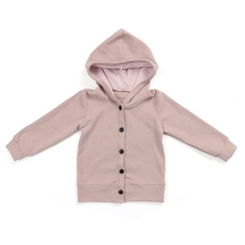 Wholesale ribbed cotton boutique children kids clothes baby girl cardigan with hat