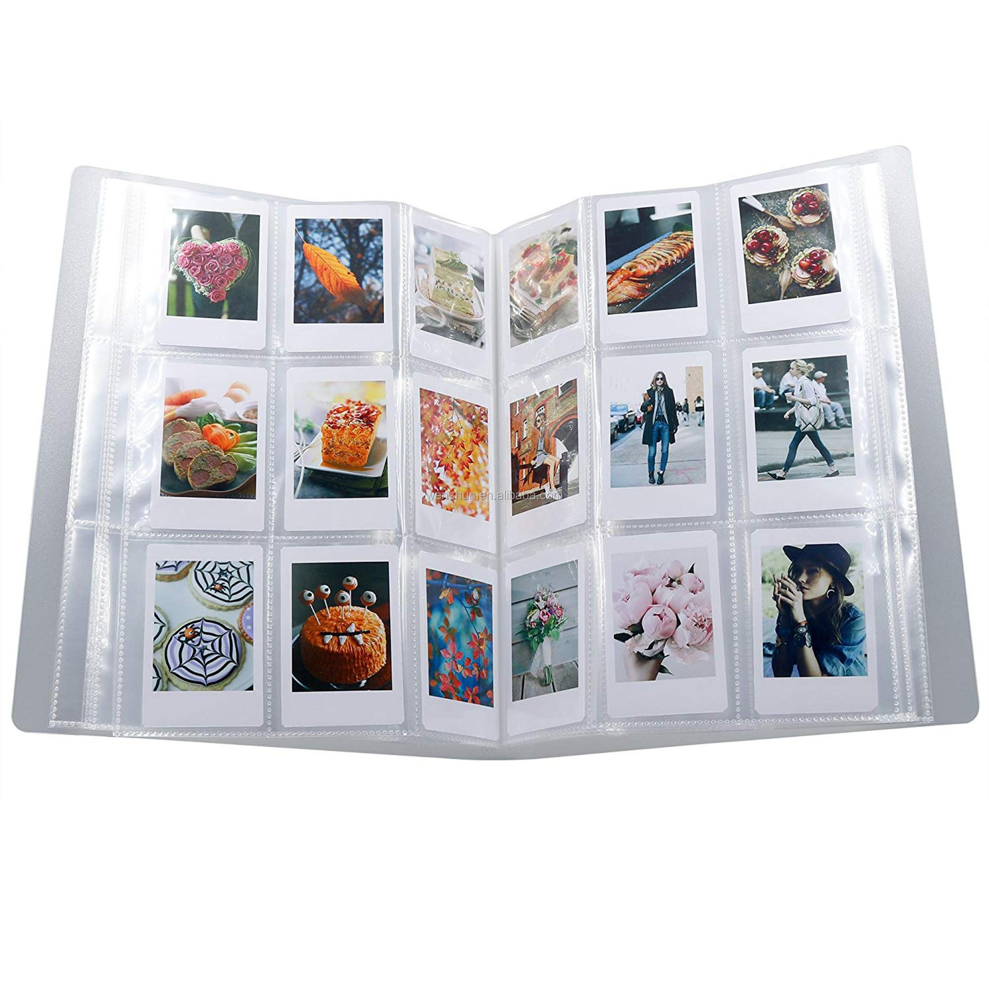 288 Pockets 3-Inch Pack of 9 Instax Mini Clear Transparent Photo Album for Fujifilm, Business Card,Ticket Holder