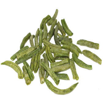Healthy snacks 100% natural vacuum fried vf haccp certificate dried green beans