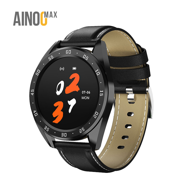 AinooMax L122 round smart watch smartwatch phone call redondo relog inteligente reloj de mano telefono 2020 <strong>x10</strong> new arrival