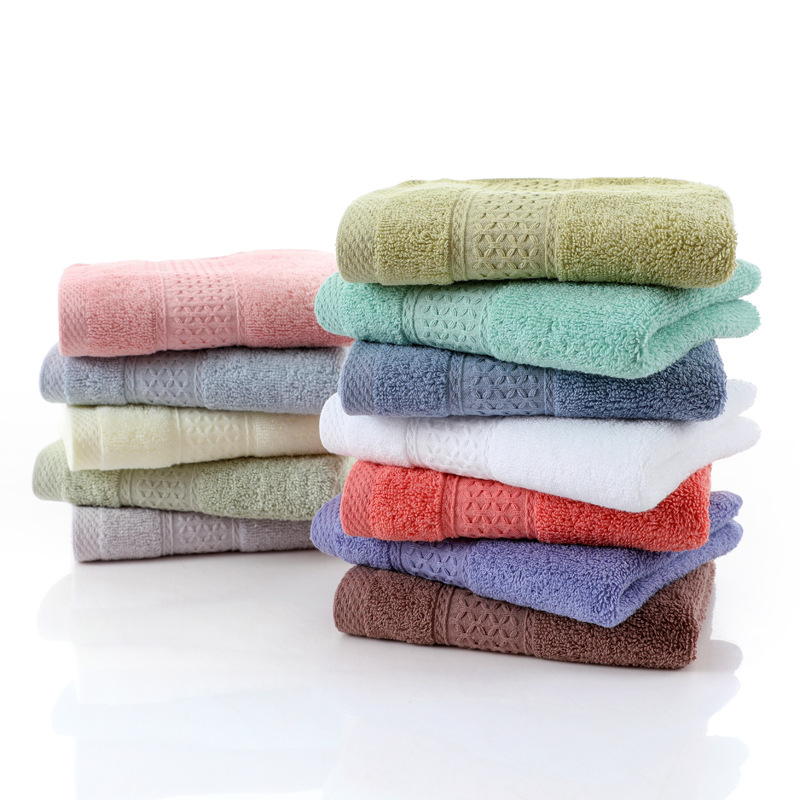 Amazon hot sale Nordic style <strong>12</strong> color minimalist fashion cotton towel, siro spinning 16 plain color can be customized <strong>logo</strong>