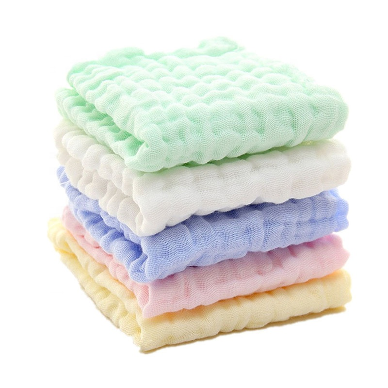 100% cotton 6 layers muslin soft touch Newborn muslin cloth facial baby muslin washcloths and <strong>Towels</strong>