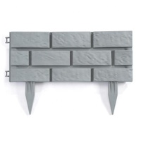 Pack of 4 Plastic Brick Wall Stone Effect Landscape Lawn Jardin Garden Garden Edging border