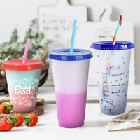 2020 hot sell BPA free Custom silkscreen logo cold coffee color changing plastic cup