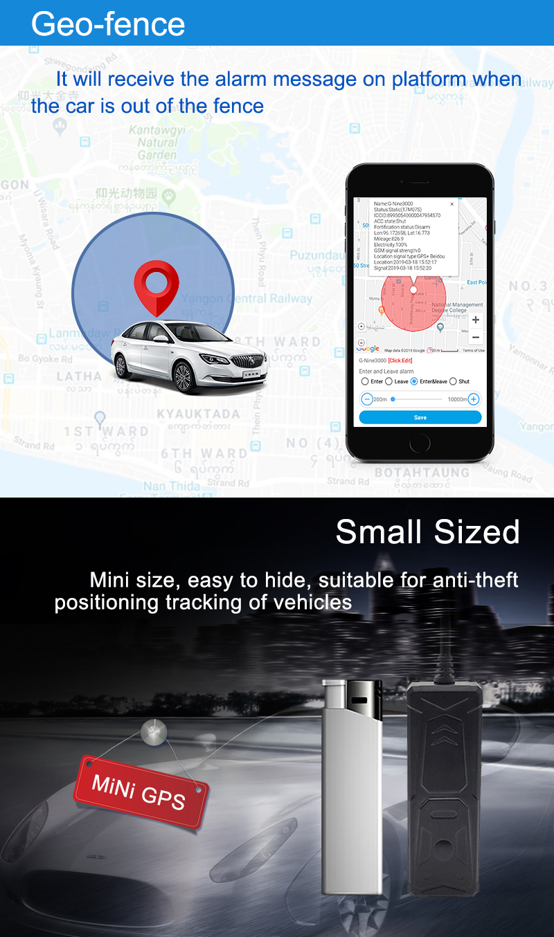 Factory Supply Concox Benway Coban Mini Hidden Vehicle Tracking Device Car GPS Tracker