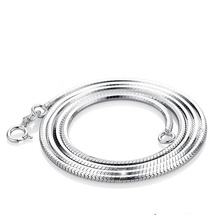 Wholesale 925 Sterling Silver Italian Snake <strong>Chain</strong> For Necklace
